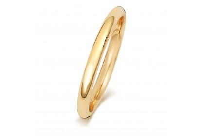 9ct Yellow Gold Court 2mm Medium Weight Band